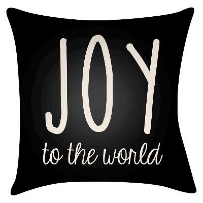 Black Season's Joy Throw Pillow 16 x16  - Surya