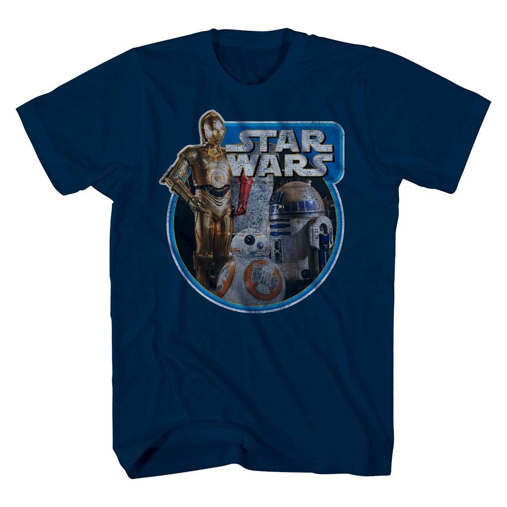 Star Wars Tri Bot Ring Boys T-Shirt - Navy S, Blue