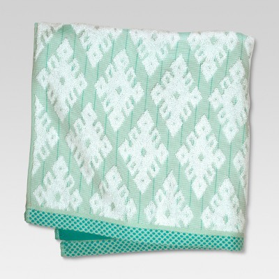 Bath Towels Geo Ikat Green - Threshold™