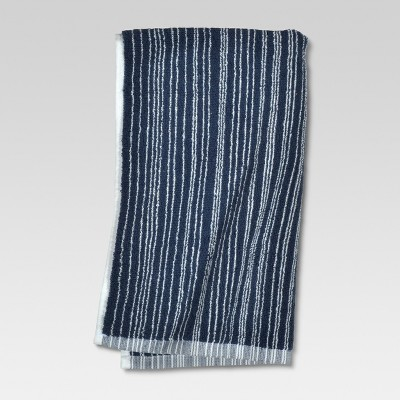 Hand Towel Abstract Blue Stripe - Threshold™