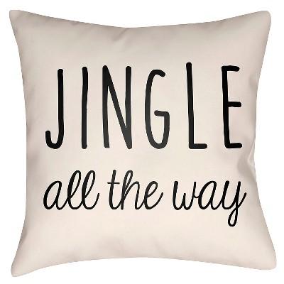 Black Jingle Throw Pillow 18 x18  - Surya