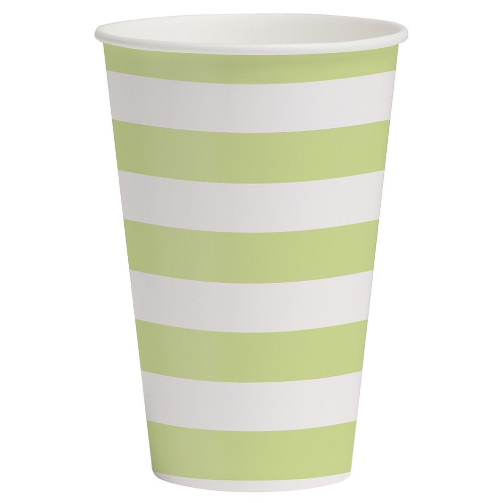 10ct Paper Cups Light Green Printed - Spritz