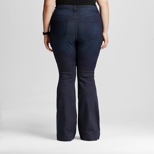 Women's Plus Size Flare Jeans Dark Wash - Ava & Viv™ : Target
