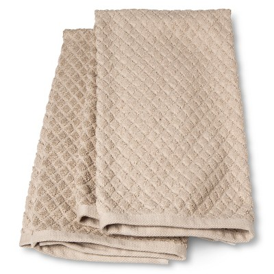 2pk Brown Solid Kitchen Towel - Threshold™