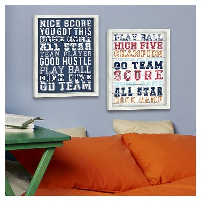 Sports Framed Art - Pillowfort, Blue Overalls And White