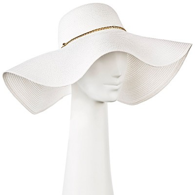 view Women's Oversized Floppy Hat with Gold Braid - Merona on target.com. Opens in a new tab.
