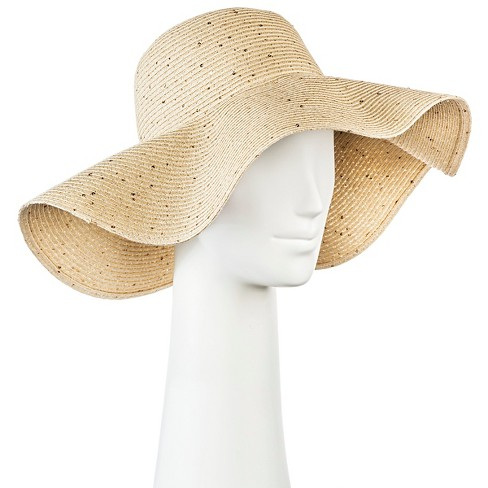 Women's Floppy Straw Hat Light Tan with Sequins - Merona™ - image 1 of 1
