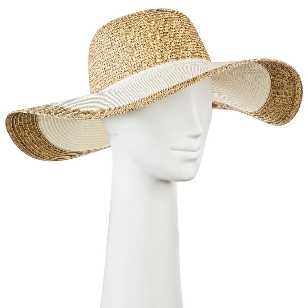 Womens Floppy Straw Hat Tan - Merona