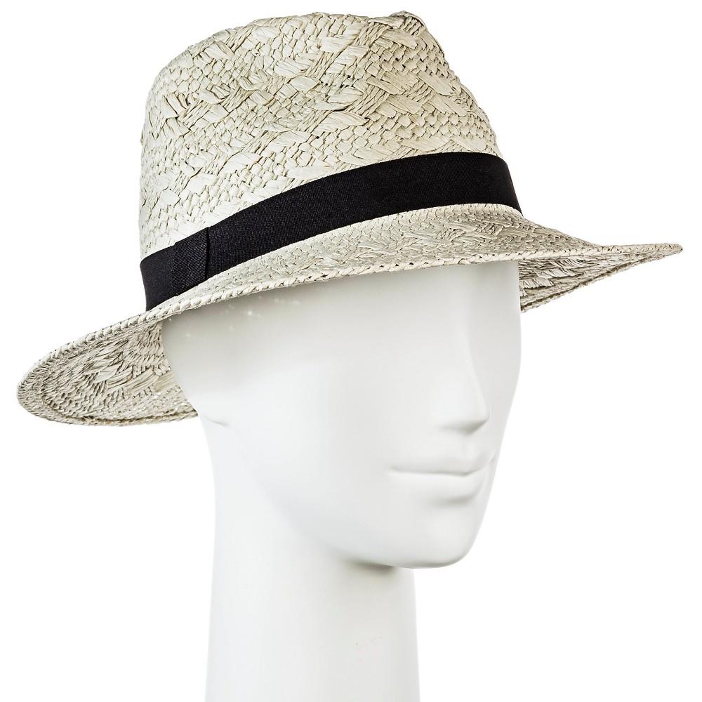 Womens Panama Hat Patterned Weave - Merona, Tan