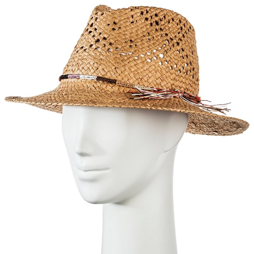 Womens Panama Hat Tan with Multi-braid - Merona, Natural