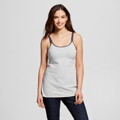 Women's Nursing Hands Free Pumping Cami Heather Gray L - Gilligan & O'Malley™