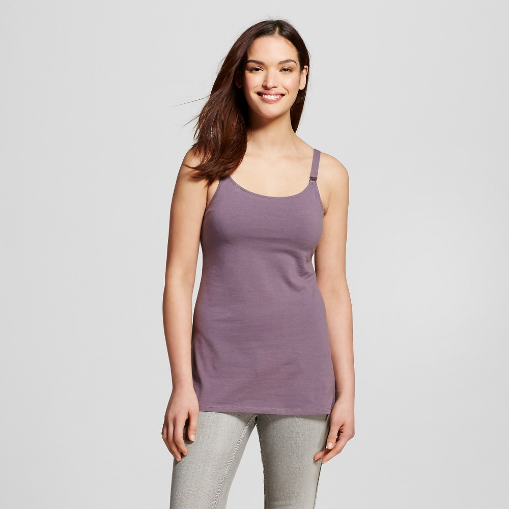 Womens Nursing Cotton Cami Plum Wink L