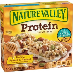 Nature Valley™ Honey, Peanut & Almond Protein Chewy Bars - 7.1oz