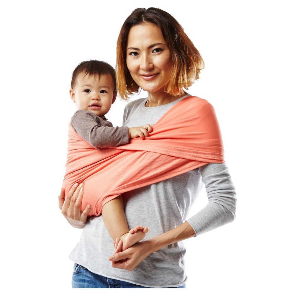 Baby K'tan Active Baby Carrier, Coral (Pink), Extra Small