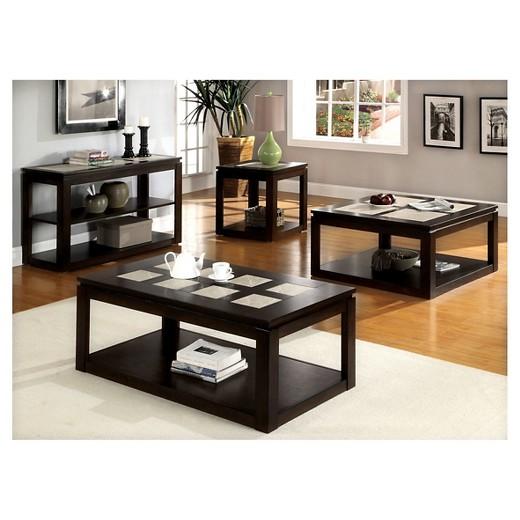 Sun pine richmond contemporary end table espresso target Living room furniture richmond va