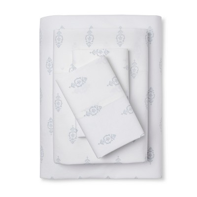 Damask Print Sheet Set (Queen)Blue - Simply Shabby Chic™