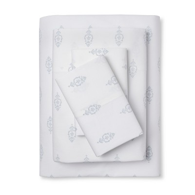 Damask Print Sheet Set (King)Blue - Simply Shabby Chic™