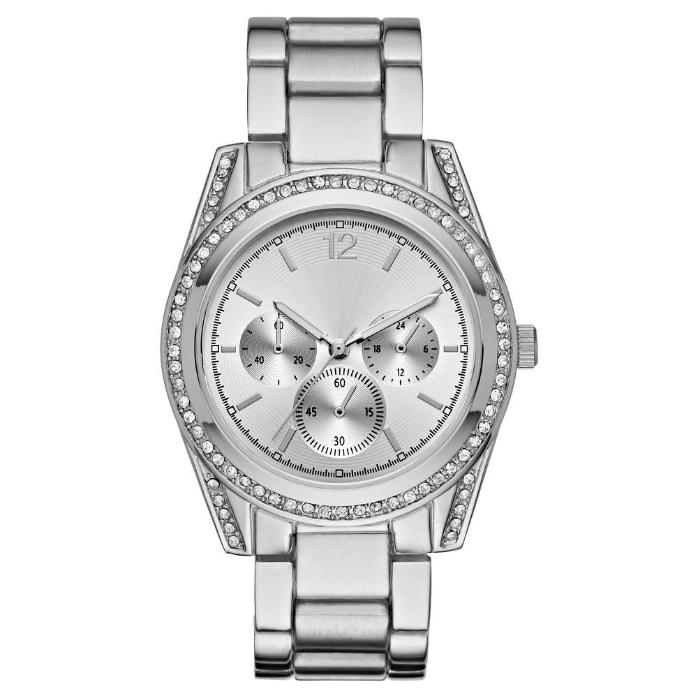 Womens Glitz Bracelet Watch - Silver - Mossimo