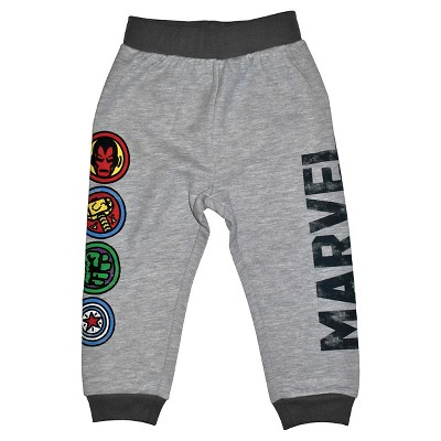 Toddler Boys' Avengers Jogger Pants - Heather Gray 12M