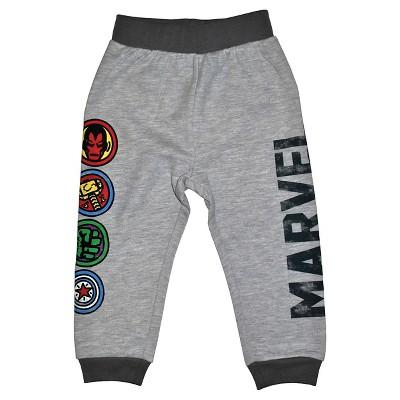Toddler Boys' Avengers Jogger Pants - Heather Grey 18M