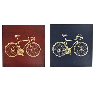 2 Pack Bicycles Art - Pillowfort™