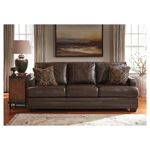 Corvan Sofa Antique - Signature Design By Ashley : Target