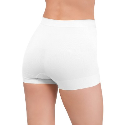 Assets by Spanx Women's All Around Smoothers Seamless Shaping Girl Short - White L