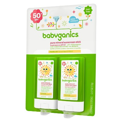 Babyganics Sunscreen Stick, SPF 50 - 0.47oz (2pk)