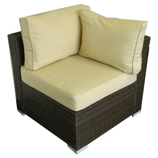 The Hom Jicaro Wicker Piece Patio Sectional Sofa Set Rustic