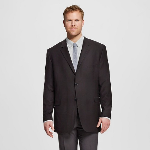 Men's Big & Tall Slim Fit Suit Jacket Black LT - Merona, Size: L tall