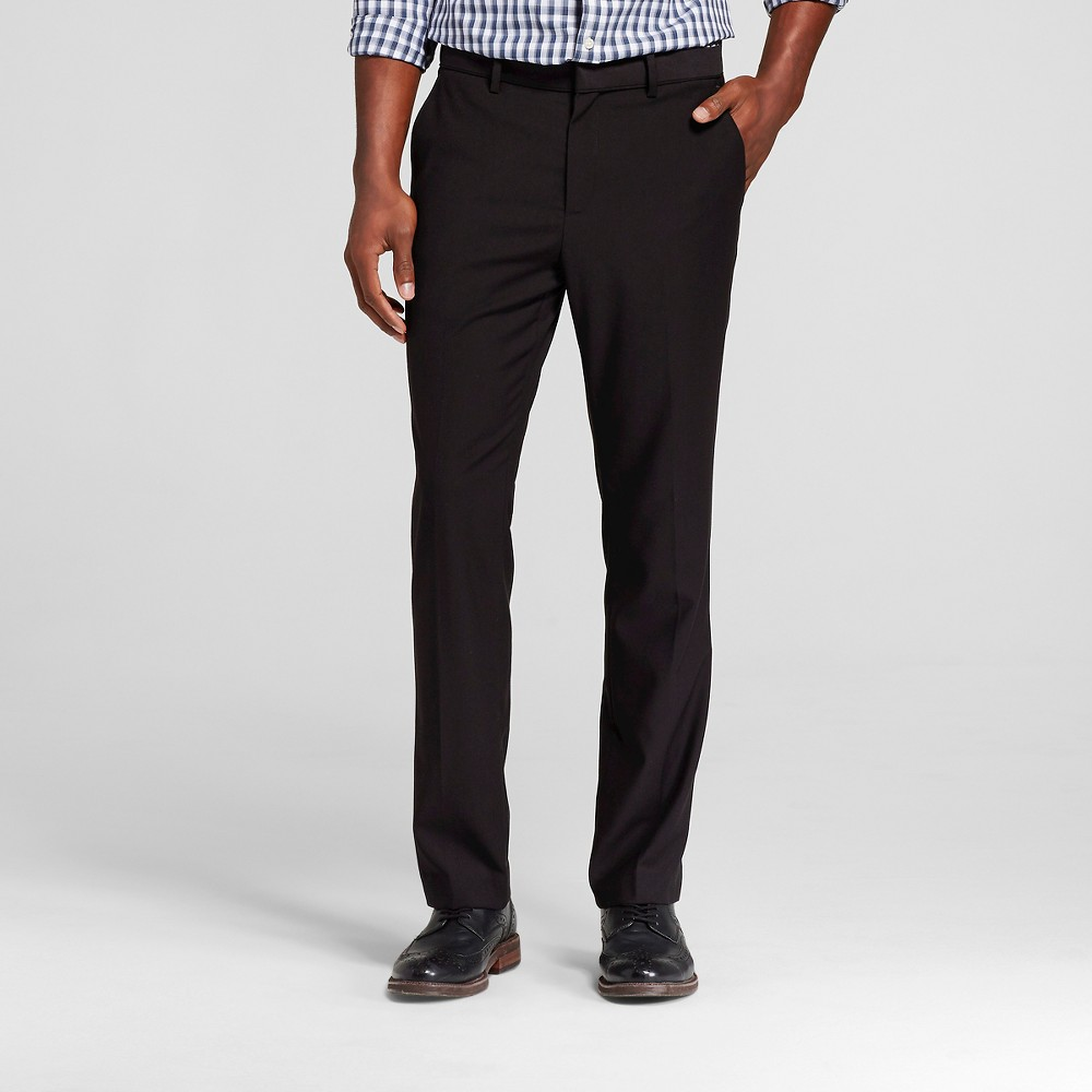 Mens Big & Tall Slim Fit Suit Pants Black 38X36 - Merona