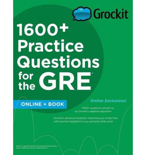 Grockit 1600+ Practice Questions for the GRE (Paperback) - image 1 of 1