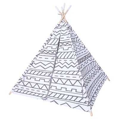 Southwestern Teepee - Gray/White - Pillowfort™