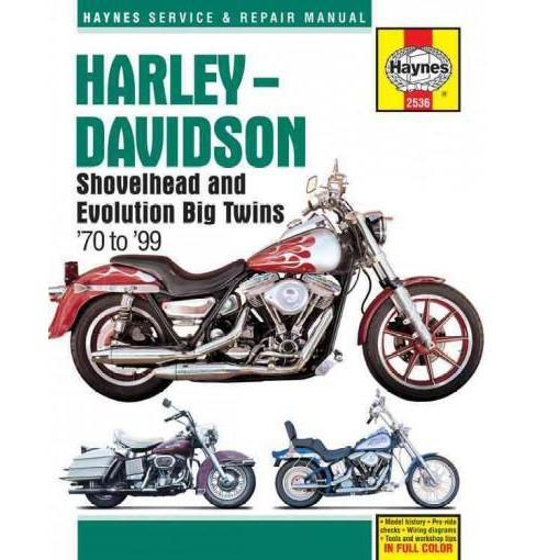 Haynes Harley-Davidson Shovelhead and Evolution Big Twins '70 to '99 Service and Repair Manual - image 1 of 1