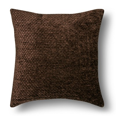 Brown Chenille Square Throw Pillow (18 X18 )- Threshold™