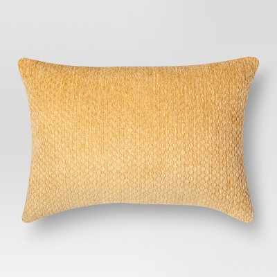 Orange Chenille Coral Lumbar Throw Pillow (20 X14 )- Threshold