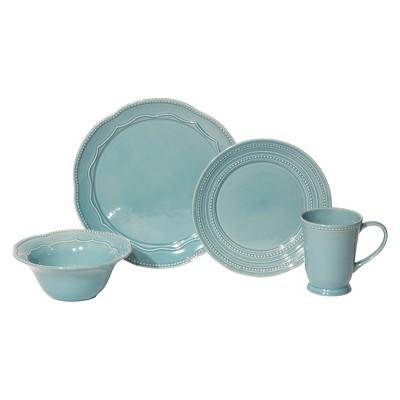 Baum Bros. 16-pc. Adorn Turquoise Dinnerware Set