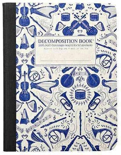 Acoustic Large Decomposition Ruled Book (Notebook / blank book)