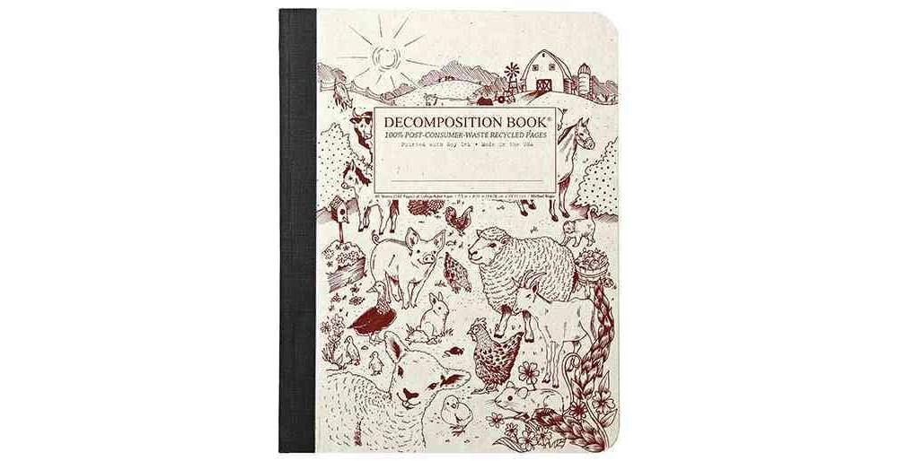 Barnyard Large Decomposition Ruled Book (Paperback) (Mich...