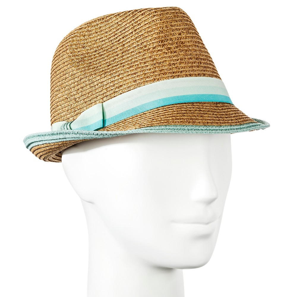 Womens Straw Fedora Mint Green - Merona