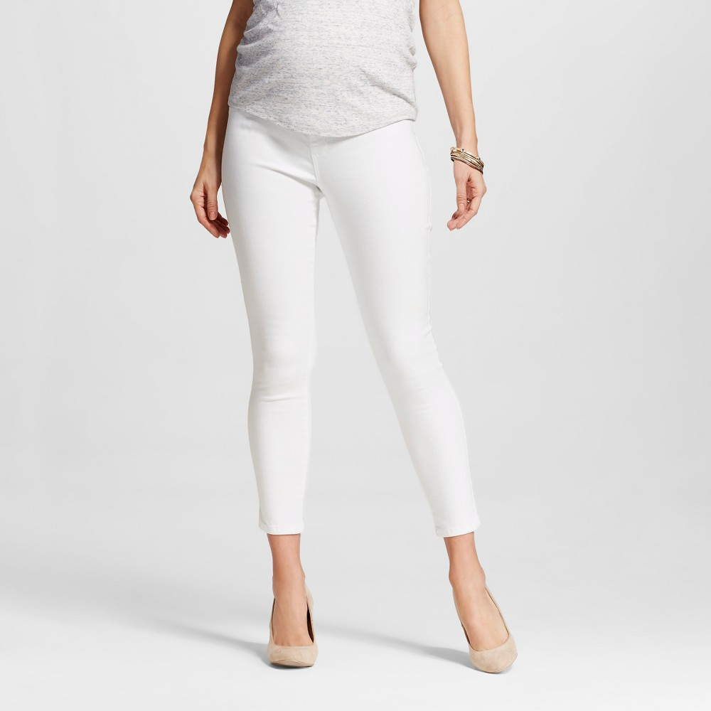 Maternity Over the Belly Ankle Skinny Jean White L – Liz Lange for Target, Infant Girl's