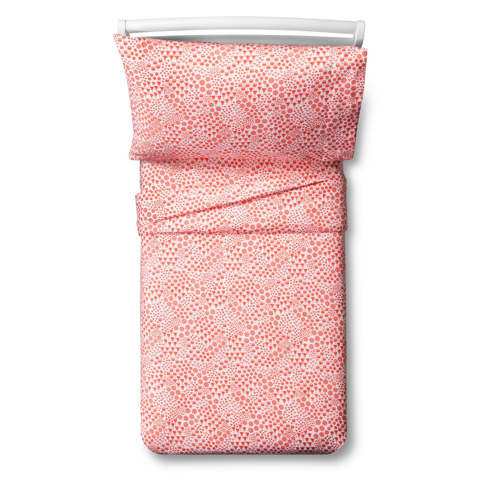 Fetching Florals Sheet Set - Toddler - 3 pc - Coral - Pillowfort™ : Target