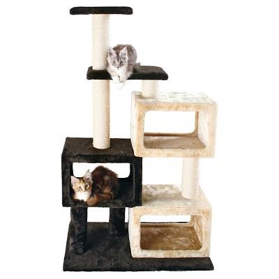 Tixie Pet Bartolo Cat Tree - Chocolate Brown