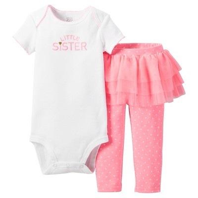 Just One You™ Made by Carter's® Baby Girls' 2pc Tutu Skirt Set – Pink & White 3M