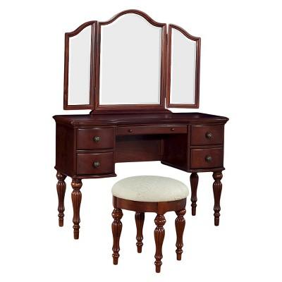 Marquis Cherry Vanity-Mirror & Bench - Powell Company