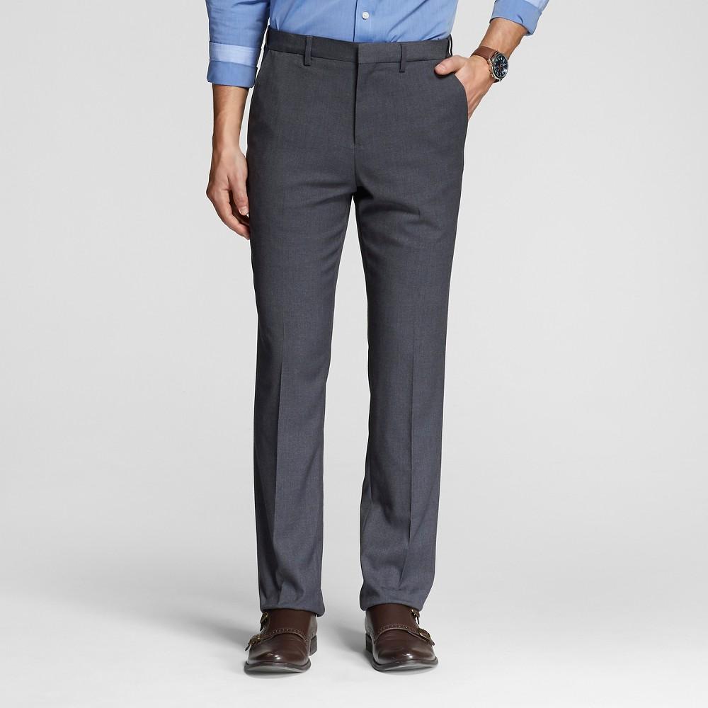 Mens Classic Fit Suit Pants Gray 30x32 - Merona