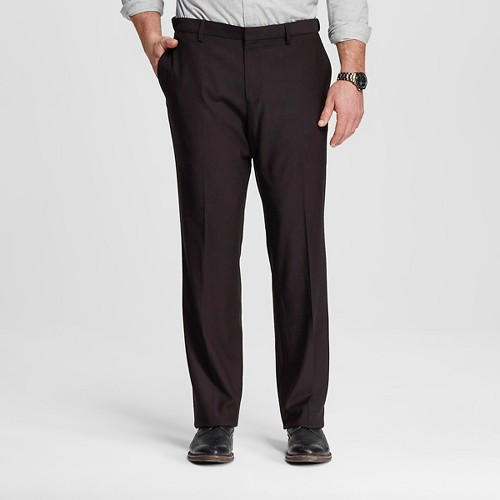 Men's Big & Tall Classic Fit Suit Pant Black 48X32 - Merona