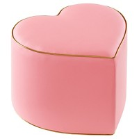 Oh Joy!® Heart Ottoman - Pink/Gold. opens in a new tab.