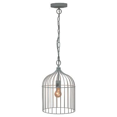 Cage Pendant Ceiling Light White - Pillowfort™