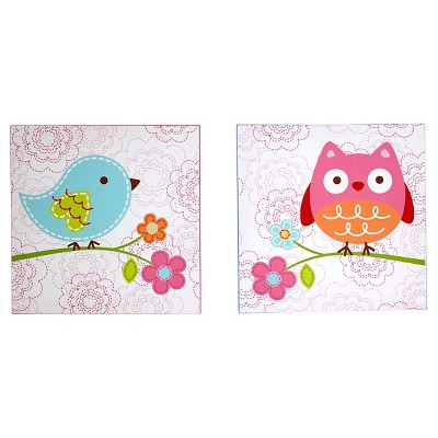 NoJo Love Birds Canvas Wall Art